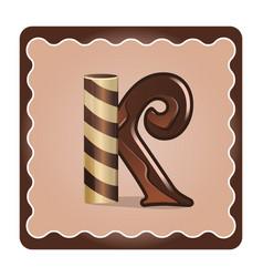 Letter k candies vector