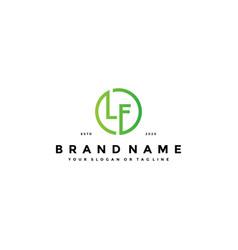 Letter lf logo design vector