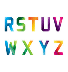 letter logo collection r-z vector image