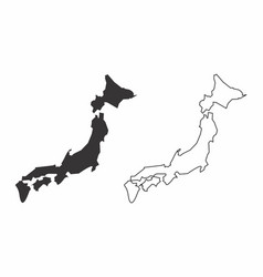 maps of japan vector image