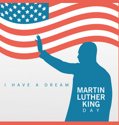 Martin luther king silhouette celebration day with vector