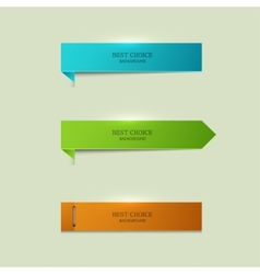 Modern bookmarks element design vector