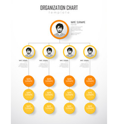 organization chart template with colorful circles vector image