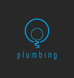 Plumbing mockup water logo creek flow from the vector