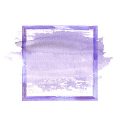 Purple watercolor grunge frame vector