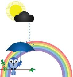 RAINBOW BRANCH vector image vector image