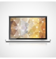 realistic open laptop vector image