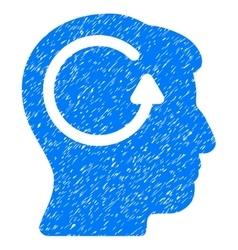 Refresh Head Memory Grainy Texture Icon vector