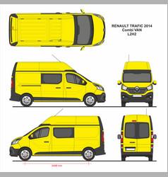 Renault trafic combi delivery van l2h2 2014 vector