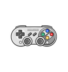 retro gamepad icon isolated electronic gamepad vector image