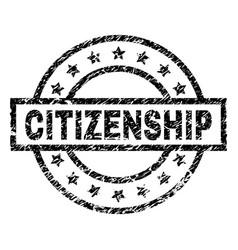 Scratched textured citizenship stamp seal vector