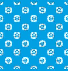 Sea salvation pattern seamless blue vector