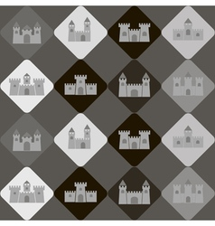 Seamless background with different castles vector image