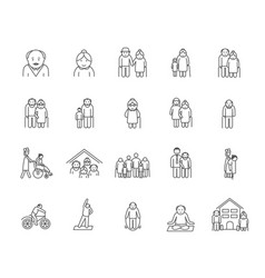 Series aged people vector