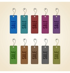 set colorful sale tags vector image