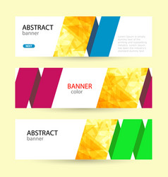 set horizontal summer web banner templates vector image