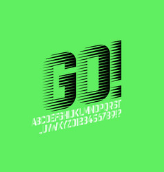 speed style sport font vector image