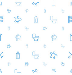 Spray icons pattern seamless white background vector