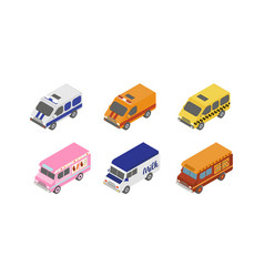 street food trucks and special service vans city vector image