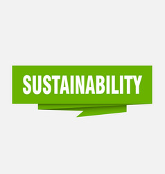 Sustainability vector