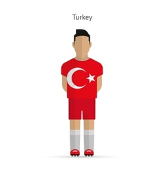 Turkey football player Soccer uniform vector