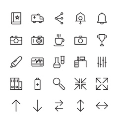 Web and User Interface Outline Icons 2 vector