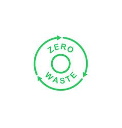 Zero waste recycling circle logo ecology theme vector