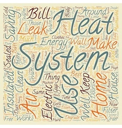 home energy systems 1 text background wordcloud vector image vector image
