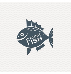 icon with fish vector image vector image