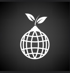 planet sprout icon vector image vector image
