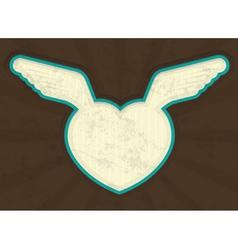 Valentines Heart Grunge vector image