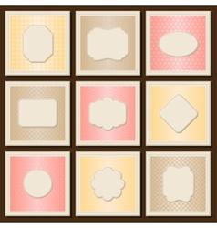Vintage patterned cards templates set vector image