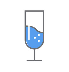 wine glass line icon outline style vector image vector image