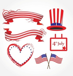 american flag stylized background vector image vector image