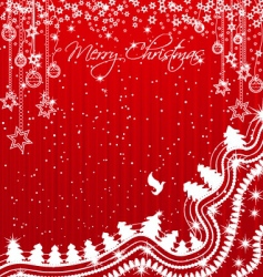 shiny and sparkling christmas background vector image vector image