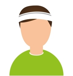 tennis athlete avatar character vector image vector image