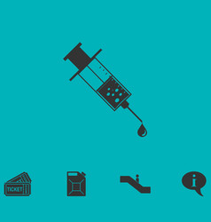 vaccination icon flat vector image