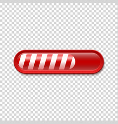 Christmas Loading bar isolated on transparent vector image vector image