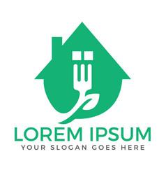 food home creative and symbolic logo design vector image