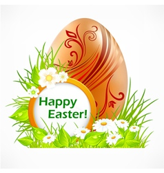 happy easter eggs signboard vector image vector image