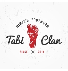 Japanese Ninja Logo Footwear insignia design vector image vector image