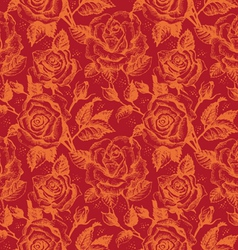 seamless floral pattern with roses vector image vector image