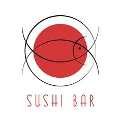 Sushi design logo abstract fish tuna Japanese vector image