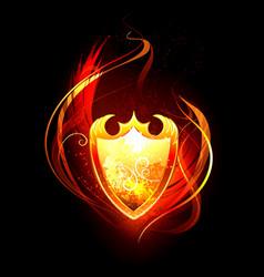 Fiery Shield vector image vector image
