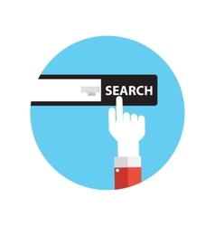 Line Icon with Flat Graphics Element of Search vector image
