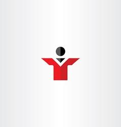 man flat icon businessman vector image