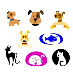 Pets icons vector image vector image