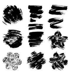 Set of grunge black color figures vector image
