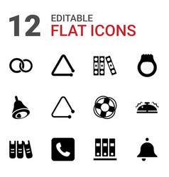 12 ring icons vector image
