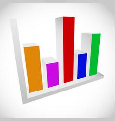3d bar chart bar graph diagram element vector
